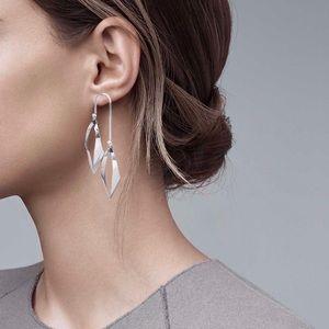 Any 2/$20! Silver Double Teardrop Stud Earrings